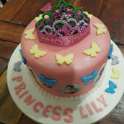 hand crafted princess birthday cake by Sweet Green Icing