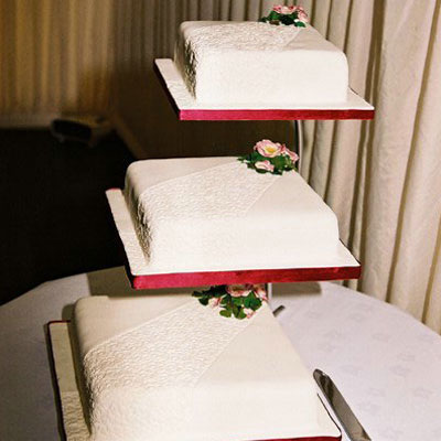 hand crafted tiered wedding cake by Sweet Green Icing
