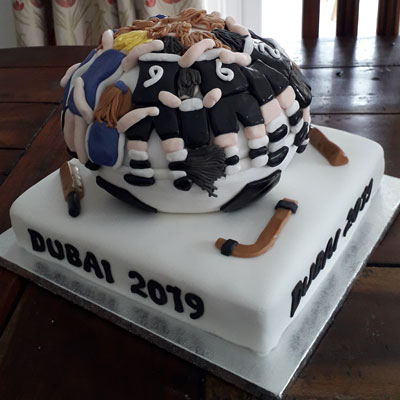 rugby handmade celebration cake by Sweet Green Icing