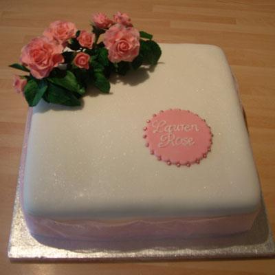 handmade christening cake