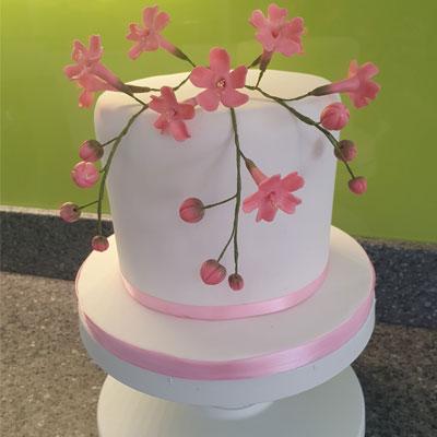 celebration cake sugar flowers