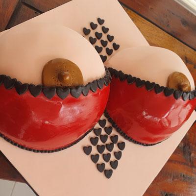 Cheeky boobs birthday cake