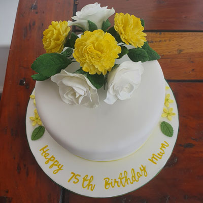 75th birthday cake made by Sweet Green Icing Dereham