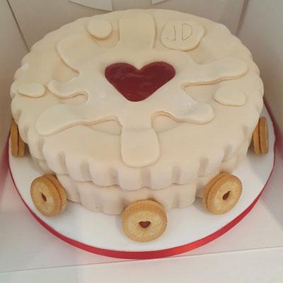 Jammie Dodger birthday cake