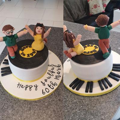 60th birthday cake music dancing